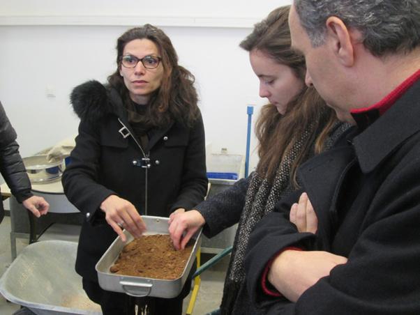 Visite du laboratoire de la filière Génie Civil de l'Université de Corse