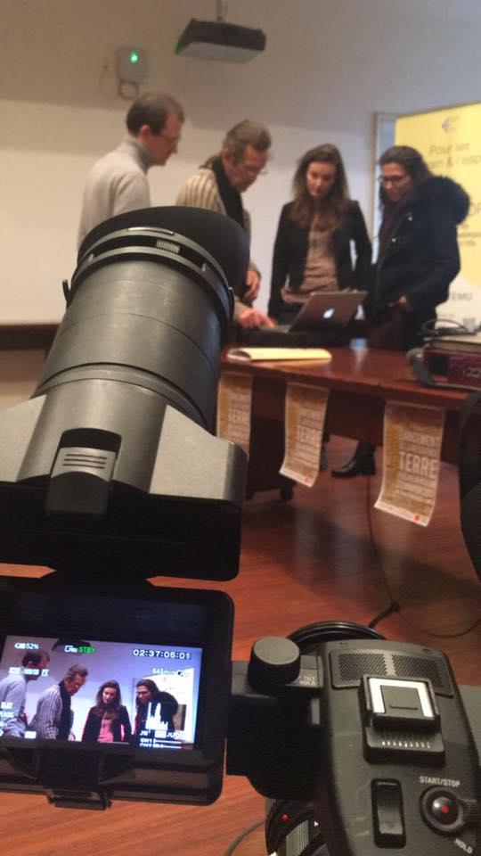 Quelques photos du tournage au moment du lancement de Fabbrica design 3