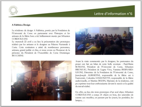 Notre partenaire Legnu Vivu rend compte de l'expo Fabbrica design dans sa lettre d'information n°6