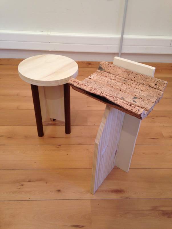 Prototypes: tabouret et tablette