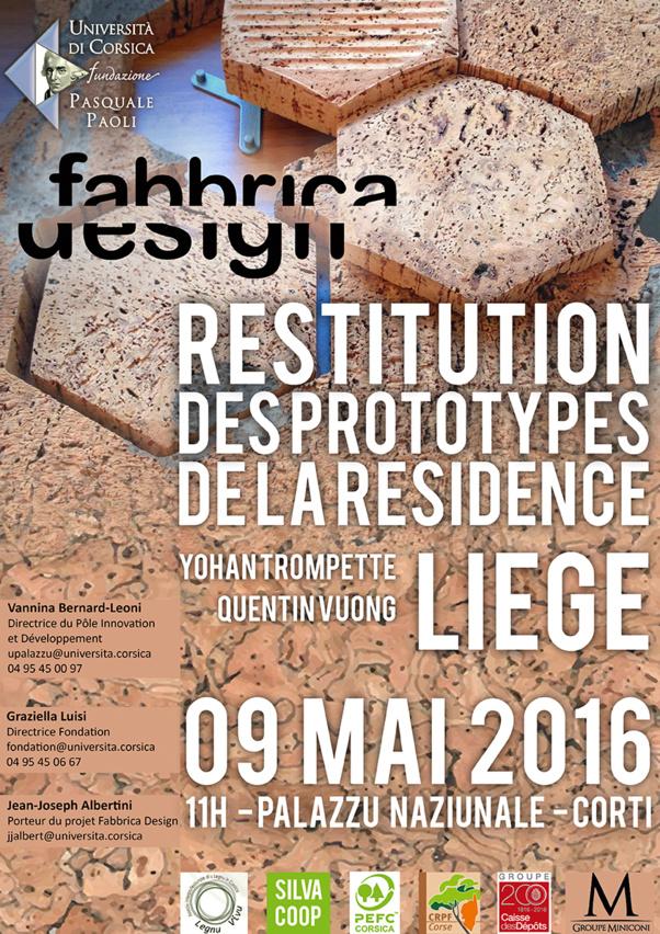 Exposition de restitution des prototypes de la résidence Fabbrica Design#Liège