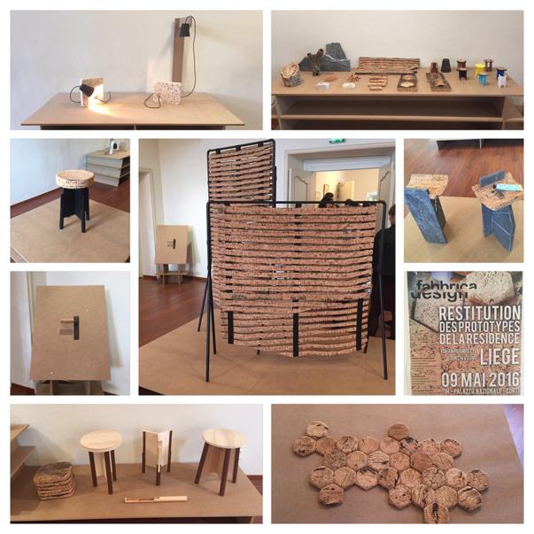 Présentation de l'exposition de restitution des prototypes Fabbrica Design#Liège