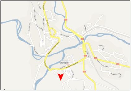 Localisation du campus grimaldi à corte