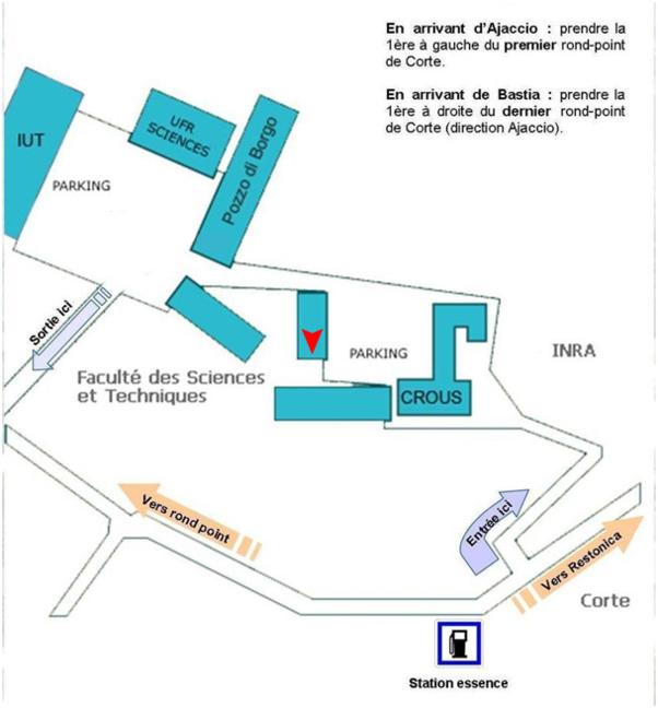 Localisation des locaux sur le campus grimaldi