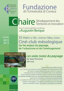chaire Développement des Territoires : ciné-club Printemps