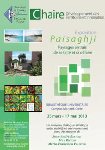 Chaire de Développement des Territoires : expo Paisaghji