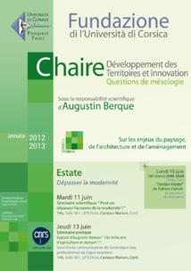 Session Estate - Chaire Développement des Territoires & Innovation