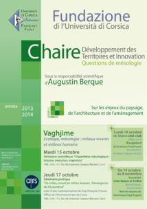 Rentrée de la Chaire Développement des Territoires et Innovation
