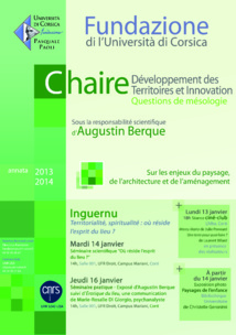 Chaire Développement des Territoires et Innovation : Session Inguernu en vue !