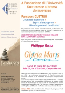 Parcours Custruì avec Philippe Riera, Gloria Maris