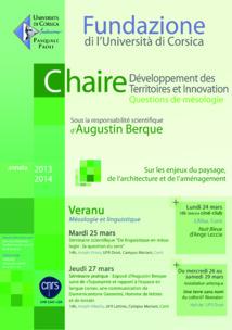 Session Veranu chaire Développement des Territoires et Innovation