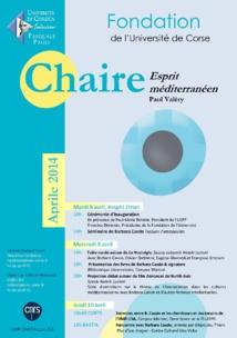 Chaire Esprit Méditerranéen - première session