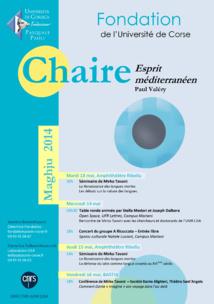 Session maghju - Chaire Esprit Méditerranéen