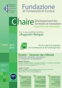 Session de clôture -chaire Développement des Territoires