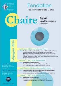 Chaire Esprit Méditerranéen Session Ghjugnu