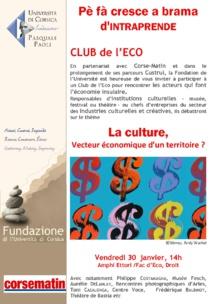 Club de l'Eco : La culture, vecteur économique d'un territoire