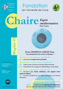 Chaire Esprit Méditerranéen - Session avec Paolo Odorico