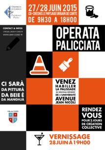 Operata Palicciata -chantier artistique collaboratif