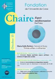 Session Ottobre - Chaire Esprit Méditerranéen avec Maria-Stella Barberi