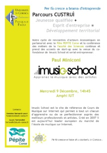 Paul Miniconi: passion + compétences = start-up