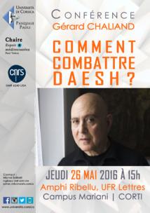 Conférence exceptionnelle de Gérard Chaliand